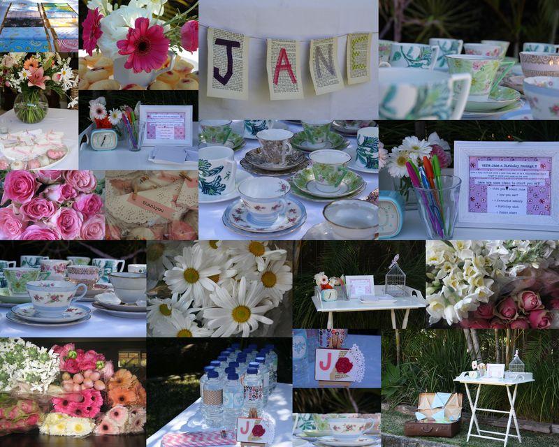 Janes 50th - decorations