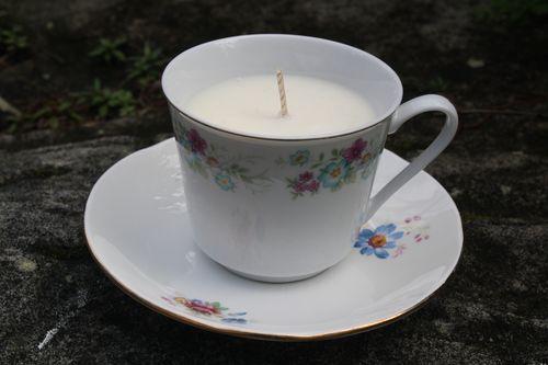 Vintage tea cup candle - VICTORIA