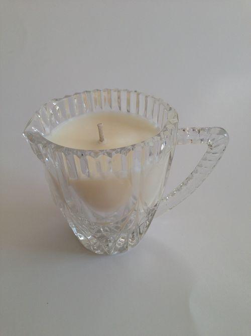 Vintage glass petite creamer