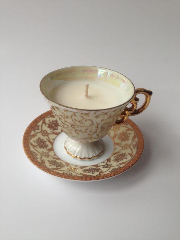 Vintage gold teacup & saucer