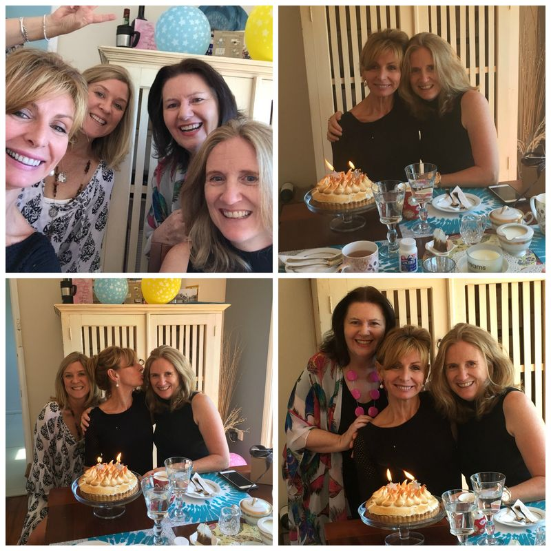 Birthday Morning tea collage