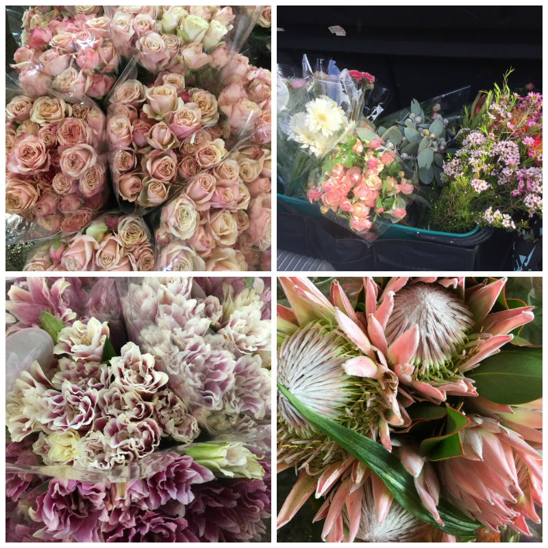 Flowers - market collage 2