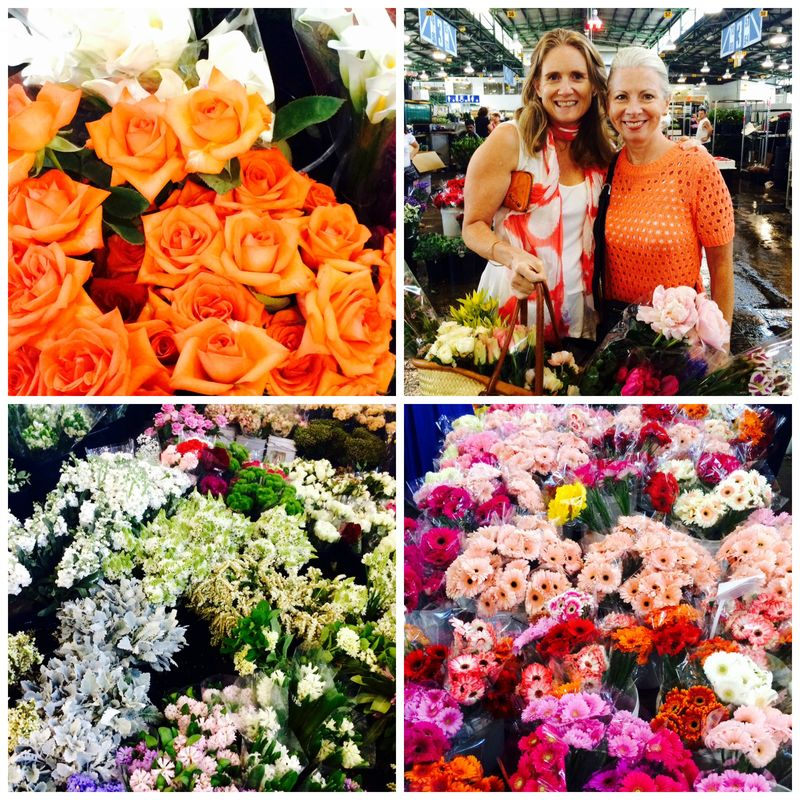 Flower market collage 2